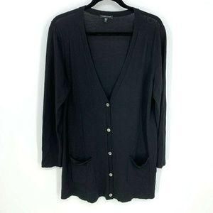 Eileen Fisher 100% Merino Wool L/S Button Cardigan